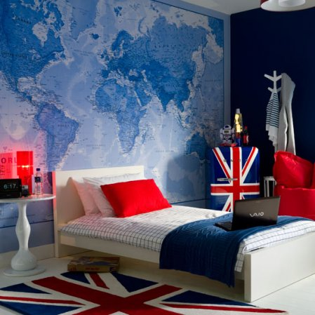Kids map wallpaper longlist for Childrens bedroom ideas boys